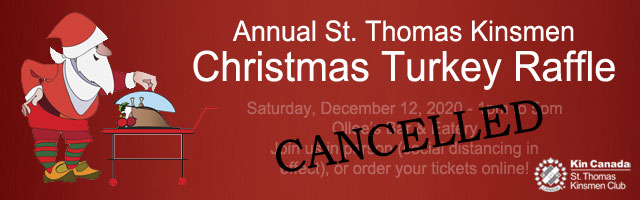 Annual St. Thomas Kinsmen Turkey Raffle 2020