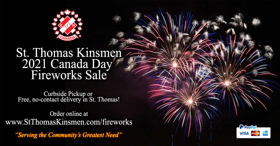 Annual St. Thomas Kinsmen Fireworks Sale - Click here to order online