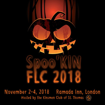 Spoo'KIN FLC, 2018 District 1 Kin Fall Leadership Conference hosted by the Kinsmen Club of St. Thomas