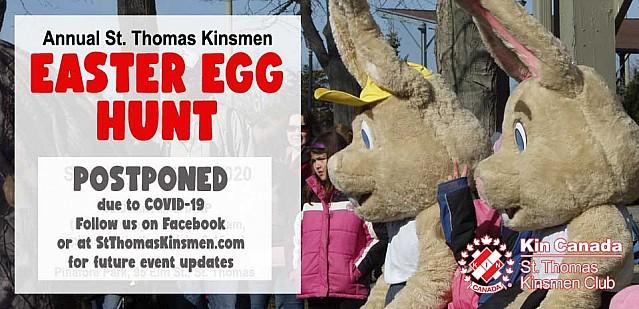 Annual St. Thomas Kinsmen Easter Egg Hunt - Postponed due to COVID-19